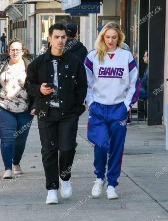 Stock Photo of Joe Jonas and Sophie Turner