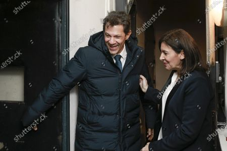 Stock Photo of Fernando Haddad is greeted by Anne Hidalgo during the meeting 'La Planete en Commun'.