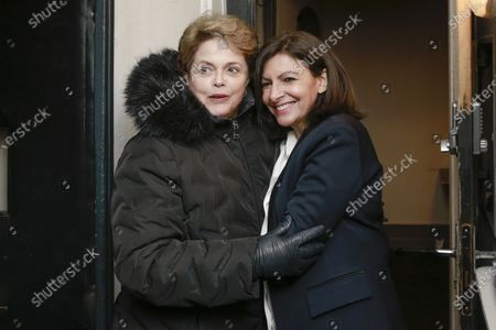 Dilma Rousseff is greeted by Anne Hidalgo during the meeting 'La Planete en Commun'.
