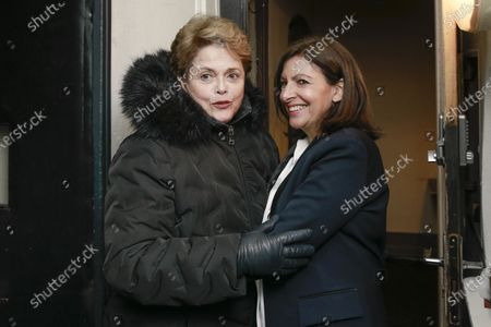 Stock Picture of Dilma Rousseff is greeted by Anne Hidalgo during the meeting 'La Planete en Commun'.