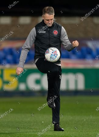 Stock Photo of Fleetwood Town Assistant Clint Hill