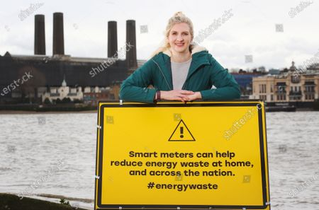 Editorial photo of Rebecca Adlington launches a new campaign to highlight how much energy we waste, London, UK - 03 Mar 2020