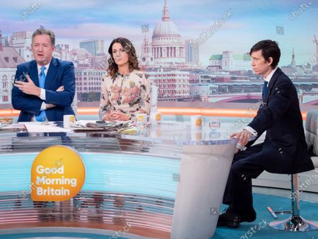 Piers Morgan and Susanna Reid with Rory Stewart