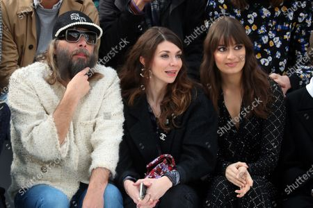 French singer Sebastien Tellier, his wife Amandine de la Richardiere and French singer Clara Luciani attend the presentation of the Fall-Winter 2020/21 Women's collection by French designer Virginie Viard for Chanel fashion house during the Paris Fashion Week, in Paris, France, 03 March 2020. The Fall-Winter 2020/21 women's collection runs from 24 February to 03 March 2020.
