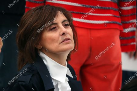 Ines de la Fressange attends the presentation of the Fall-Winter 2020/21 Women's collection by French designer Virginie Viard for Chanel fashion house during the Paris Fashion Week, in Paris, France, 03 March 2020. The Fall-Winter 2020/21 women's collection runs from 24 February to 03 March 2020.