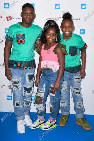 Stock Photo of Princess K, Omarion and Demari