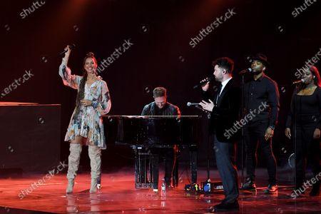 Leona Lewis and Calum Scott