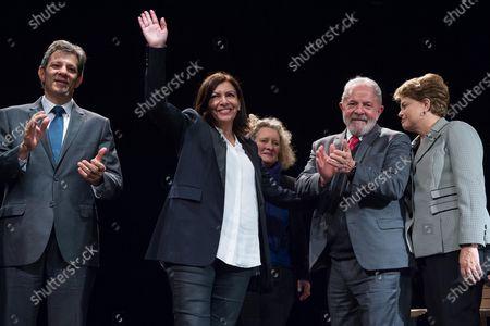 Fernando Haddad, Anne Hidalgo, Dilma Rousseff and Luiz Inacio Lula da Silva