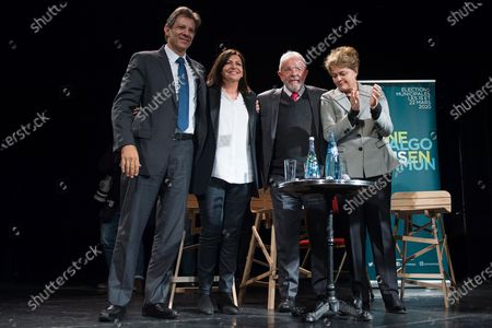 Stock Photo of Fernando Haddad, Anne Hidalgo, Dilma Rousseff and Luiz Inacio Lula da Silva