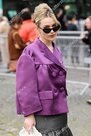 Editorial photo of Miu Miu show, Arrivals, Fall Winter 2020, Paris Fashion Week, France - 03 Mar 2020