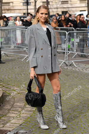Editorial picture of Miu Miu show, Arrivals, Fall Winter 2020, Paris Fashion Week, France - 03 Mar 2020