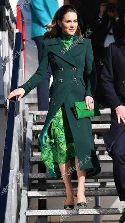 Catherine Duchess of Cambridge arrives at Dublin International Airport