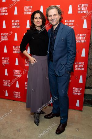 Stock Picture of Stephanie J. Block and Sebastian Arcelus