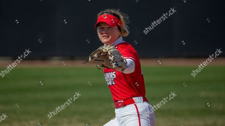 Illinois State's Anni Borries plays the infield during Illinois State's 11-4 victory over Austin Peay in a Hilltopper Spring Fling tournament NCAA softball game, in Bowling Green, KY