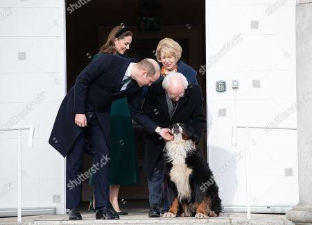 Prince William and Catherine Duchess of Cambridge meet Irish President Michael D. Higgins and Sabina Coyne