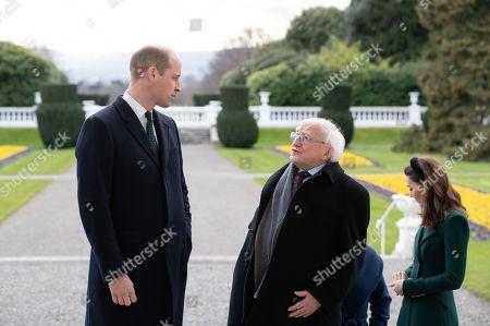 Prince William and Catherine Duchess of Cambridge meet Irish President Michael D. Higgins