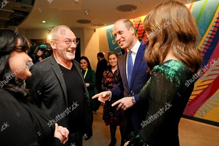 Stock Picture of Prince William and Catherine Duchess of Cambridge attends a reception at the Guinness Storehouse's Gravity Bar, hosted by the British Ambassador to Ireland, and meet Liam Cunningham on the first day of their 3 day visit to Dublin, Ireland.