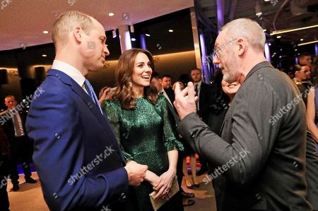 Stock Image of Prince William and Catherine Duchess of Cambridge attends a reception at the Guinness Storehouse's Gravity Bar, hosted by the British Ambassador to Ireland, and meet Liam Cunningham on the first day of their 3 day visit to Dublin, Ireland.