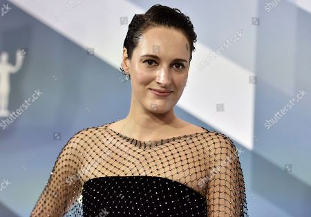 "Stock Image of Phoebe Waller-Bridge arrives at the 26th annual Screen Actors Guild Awards at the Shrine Auditorium & Expo Hall, in Los Angeles. The one-woman stage version of Waller-Bridge's barbed sitcom ""Fleabag"" is nominated for best entertainment or comedy play at Britain's Olivier theater awards, it was announced Tuesday, March 3, 2020. Waller-Bridge is also nominated for best actress in a play, competing with Hayley Atwell for ""Rosmersholm,"" Sharon D. Clarke for ""Death of a Salesman,"" and Juliet Stevenson for ""The Doctor"