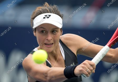 German Tatjana Maria returns a ball to Britain Heather Watson during the second day of Monterrey Tennis Open, in Monterrey, Mexico, 03 March 2020.