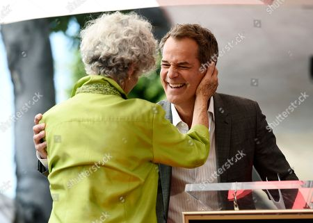 Susan Stamberg, Josh Stamberg. Actor and guest speaker Josh Stamberg, right, greets his mother, NPR broadcast journalist Susan Stamberg, during a ceremony honoring her with a star on the Hollywood Walk of Fame, in Los Angeles