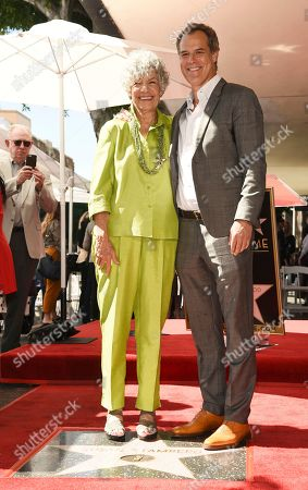 Susan Stamberg, Josh Stamberg. National Public Radio broadcast journalist Susan Stamberg, left, poses with her son, actor Josh Stamberg, following a ceremony honoring her with a star on the Hollywood Walk of Fame, in Los Angeles