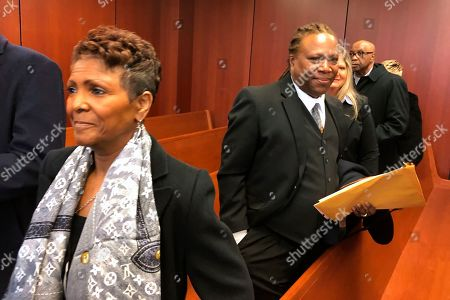 Ted White, Sabrina Owens. Sabrina Owens, left, the niece of Aretha Franklin, and Franklin's son, Ted White, right, leave a courtroom in Pontiac, Mich., . A judge accepted Owens' resignation as personal representative, or executor, of the late singer's estate but declined to appoint White as an interim replacement
