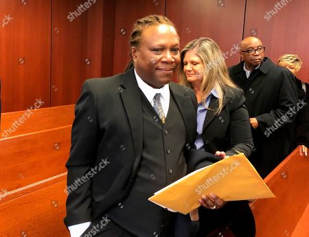 Aretha Franklin's son Ted White leaves a courtroom in Pontiac, Mich., . A judge accepted the resignation of Sabrina Owens, Franklin's niece, as personal representative, or executor, of the late singer's estate but declined to appoint White as an interim replacement