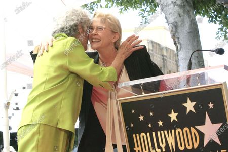 US radio host Susan Stamberg (L) and US actress Annette Bening at a ceremony honoring Susan Stamberg with the 2690th star on the Hollywood Walk of Fame in Los Angeles, California, USA, 24 February 2020. The star is dedicated in the category of Radio.