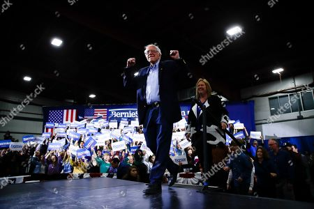 Editorial image of Election 2020 Bernie Sanders, Essex Junction, USA - 03 Mar 2020