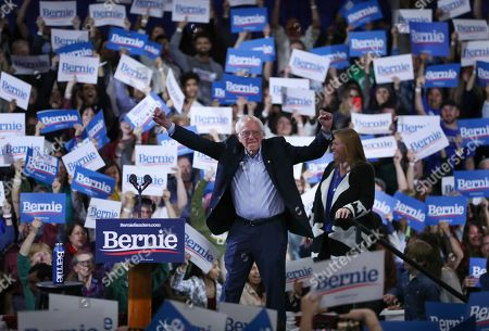 Editorial picture of Election 2020 Bernie Sanders, Essex Junction, USA - 03 Mar 2020