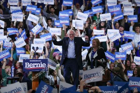 Editorial photo of Election 2020 Bernie Sanders, Essex Junction, USA - 03 Mar 2020
