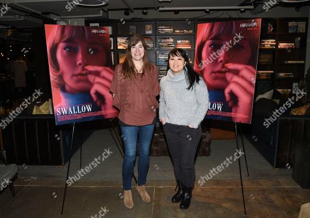 """Mollye Asher, Mynette Louie. Producers Mollye Asher, left, and Mynette Louie attend a special screening of """"Swallow"""" at NeueHouse Madison Square, in New York"""