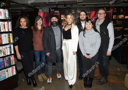 "Luna Lauren Velez, Mollye Asher, Laith Nakli, Haley Bennett, Carlo Mirabella-Davis, Mynette Louie, David Basche. Actress Luna Lauren Velez, left, producer Mollye Asher, actor Laith Nakli, actress Haley Bennett, director Carlo Mirabella-Davis, producer Mynette Louie and actor David Basche attend a special screening of ""Swallow"" at NeueHouse Madison Square, in New York"