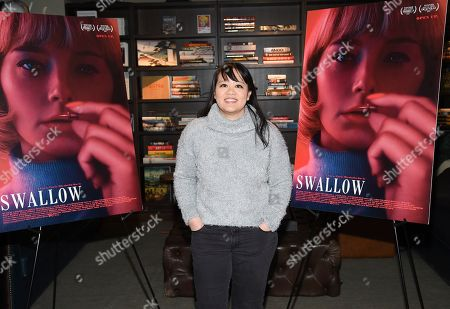 """Mynette Louie attends a special screening of """"Swallow"""" at NeueHouse Madison Square, in New York"""