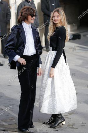 Stock Image of Ines de la Fressange and Violette Marie d'Urso