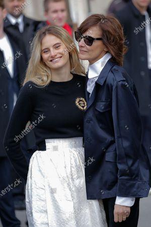 Stock Picture of Ines de la Fressange and Violette Marie d'Urso