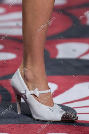 Stock Picture of Pixie Geldof on the catwalk, shoe detail