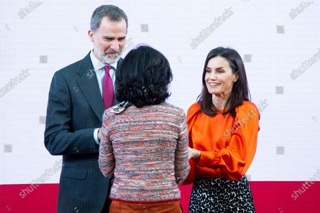 King Felipe VI, Ana Patricia Botin and Queen Letizia