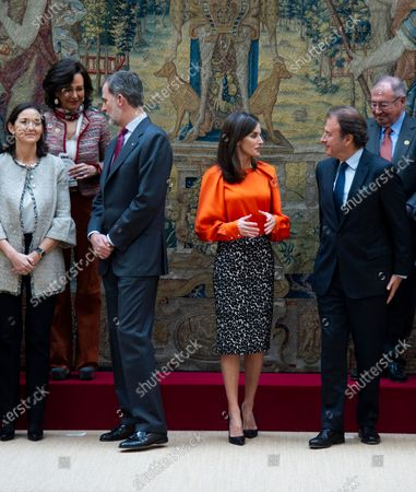 Ana Patricia Botin, King Felipe VI and Queen Letizia