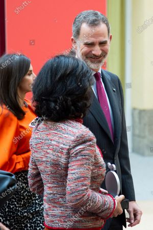 Queen Letizia, Ana Patricia Botin and King Felipe VI