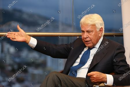 Former Prime Minister of Spain Felipe Gonzalez speaks during an interview in Quito, Ecuador, 03 March 2020. During the interview, Gonzalez stated that he believes that socialism, as practiced in the 21st century should be judged by the outcomes of its implementation in countries such as Venezuela and Nicaragua.