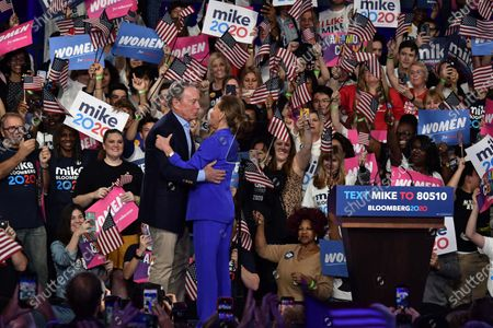 Editorial image of Mike Bloomberg, US Presidential Election Campaigning, Palm Beach County Convention Center, USA - 03 Mar 2020