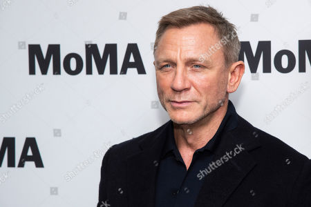 """Stock Image of Daniel Craig attends the opening night of the """"In Character: Daniel Craig"""" film series at the Museum of Modern Art, in New York"""