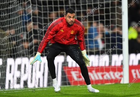 Sergio Romero goalkeeper of Manchester United warms up