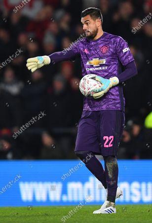 Sergio Romero goalkeeper of Manchester United