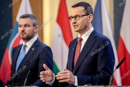 Editorial image of Visegrad Group summit in Prague, Czech Republic - 04 Mar 2020