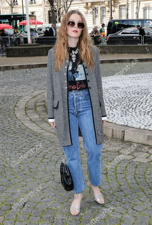 Editorial image of Miu Miu show, Arrivals, Fall Winter 2020, Paris Fashion Week, France - 03 Mar 2020