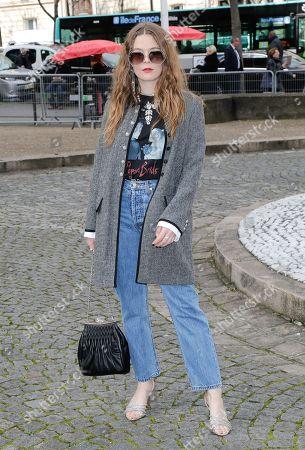 Editorial photo of Miu Miu show, Arrivals, Fall Winter 2020, Paris Fashion Week, France - 03 Mar 2020