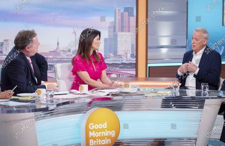 Piers Morgan and Susanna Reid with Michael Barrymore